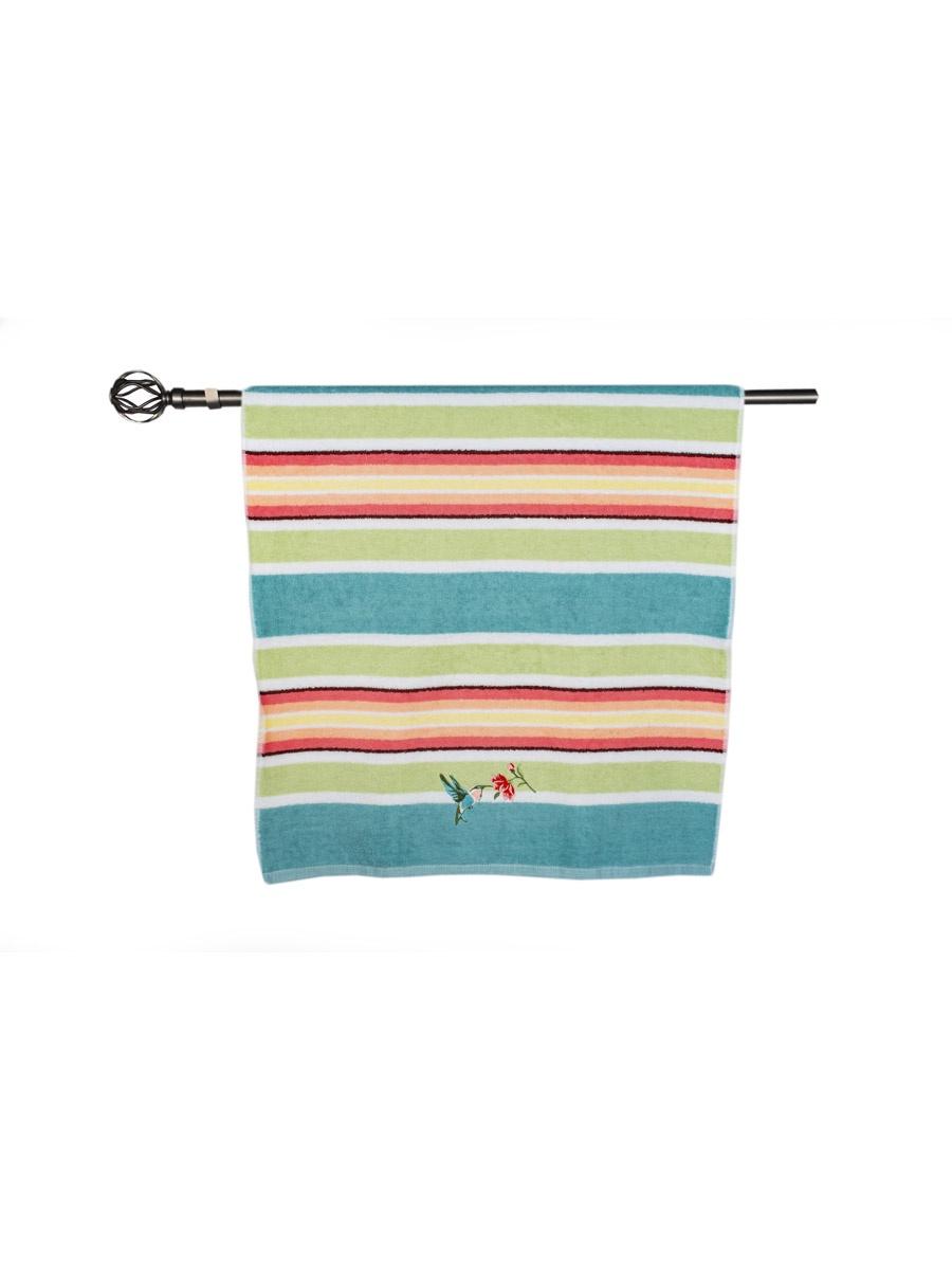 Полотенце банное Grand Stil Колибри, размер 65*135, N17-226b, бирюзовый