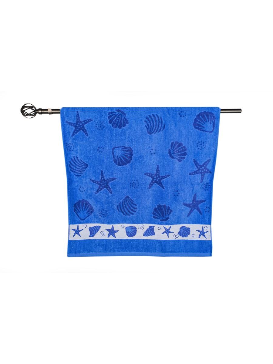 Полотенце банное Grand Stil Море, размер 68*135, N14-251b, синий цена