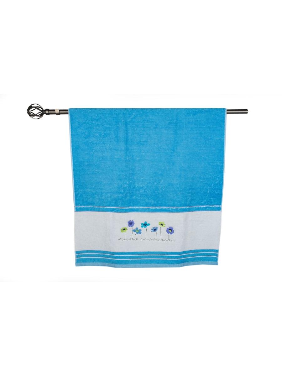 Полотенце банное Grand Stil Поляна, размер 65*135, TRO-T2633b, синий цена