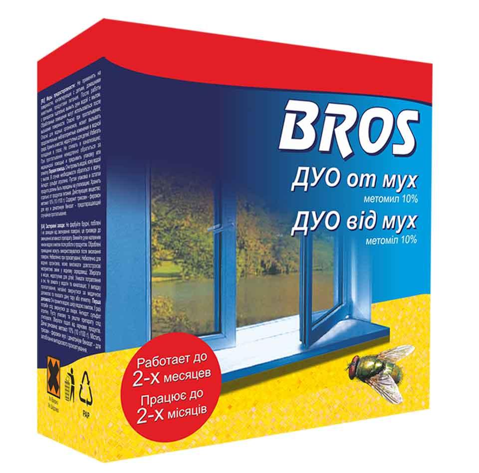 Уничтожитель Bros Дуо от мух с феромоном, 722496, 20 мг + 100 мл средство от мух в помещении