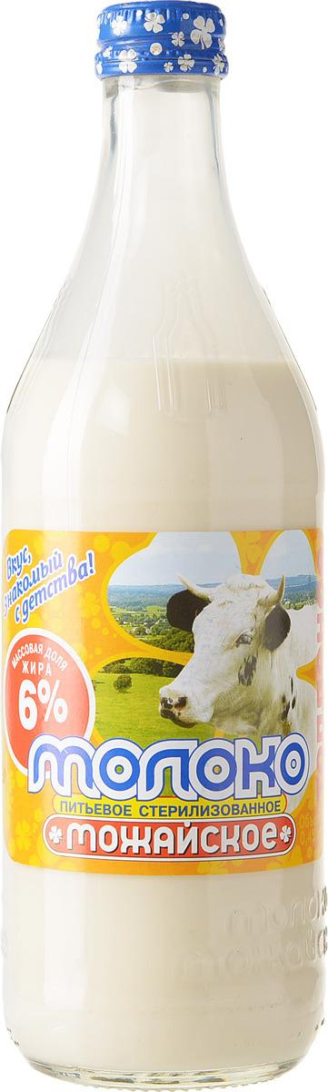 Молоко Можайское молоко, топленое, стерилизованное 6%, 450 мл молочная продукция агуша молоко стерилизованное с пребиотиком 2 5% 200 мл