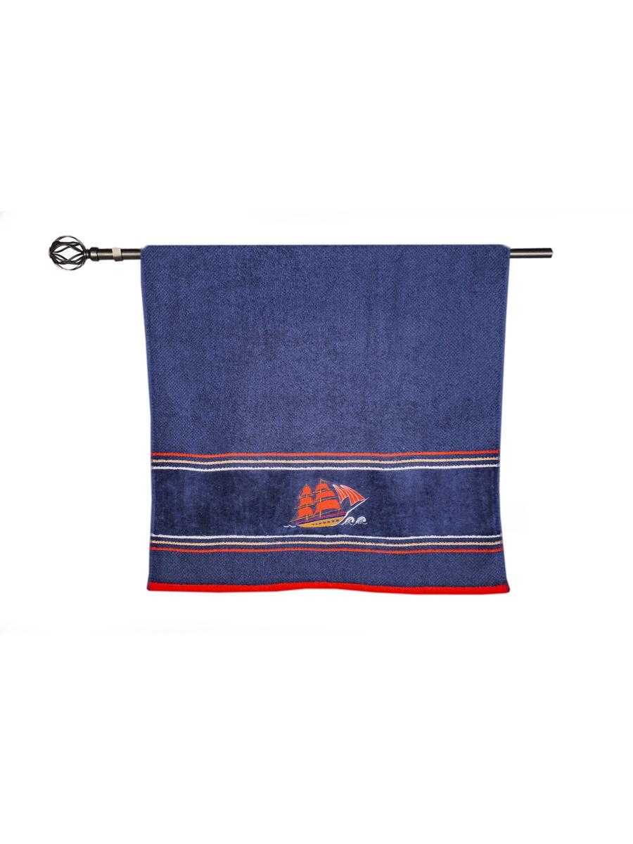 Полотенце банное Grand Stil Фрегат, размер 65*135, N17-220b, синий цена