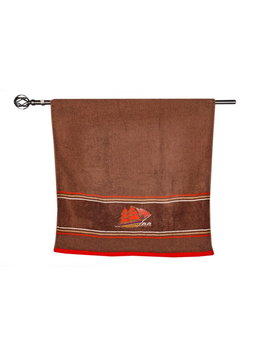 Полотенце банное Grand Stil Фрегат, размер 65*135, N17-220b, коричневый