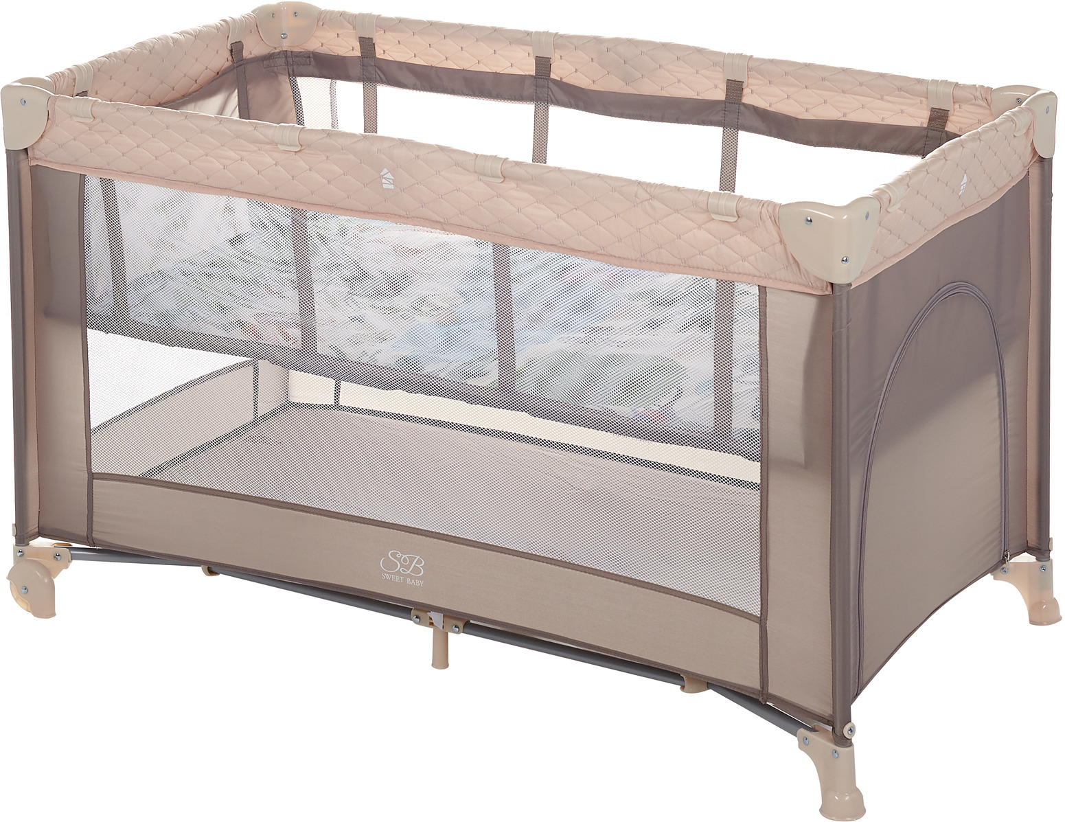Манеж-кроватка Sweet Baby Intelletto 5 в 1, 389763, бежевый