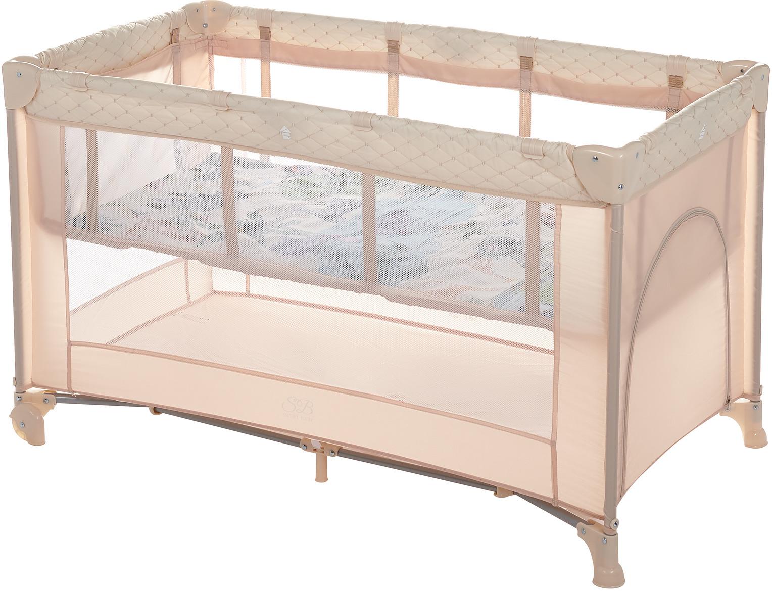 Манеж-кроватка Sweet Baby Intelletto 5 в 1, 389765, светло-бежевый