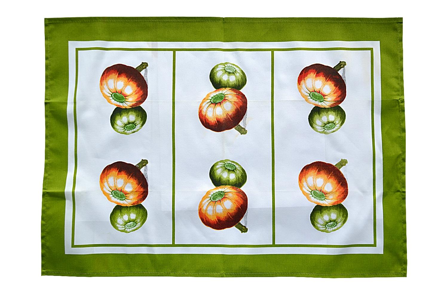 цена Полотенце кухонное Коллекция Полотенце Тыква, белый, зеленый онлайн в 2017 году