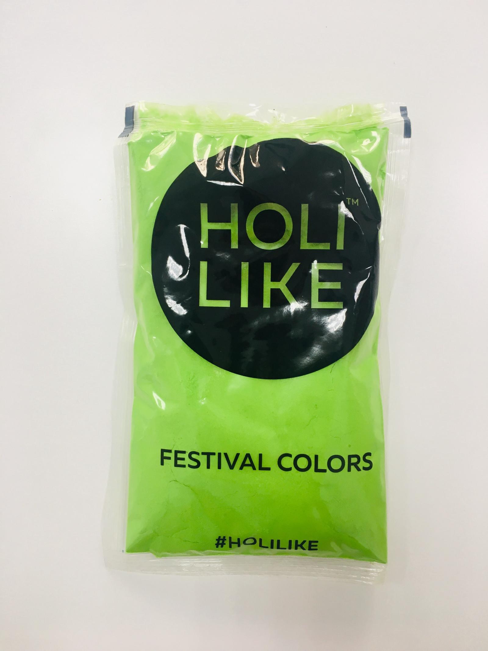Пигмент Холи Лайк Фестивальные краски 720-06, салатовый холи ленд спешиал маск