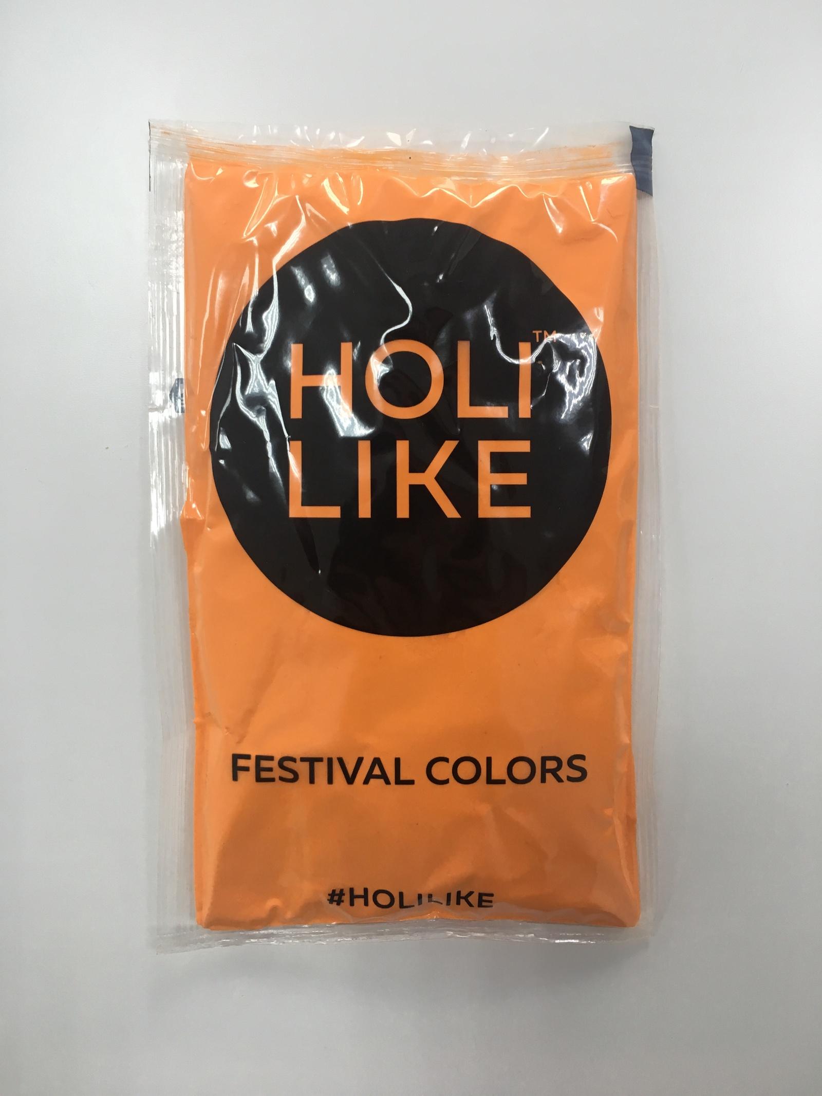 Пигмент Холи Лайк Фестивальные краски 720-01, оранжевый холи ленд спешиал маск