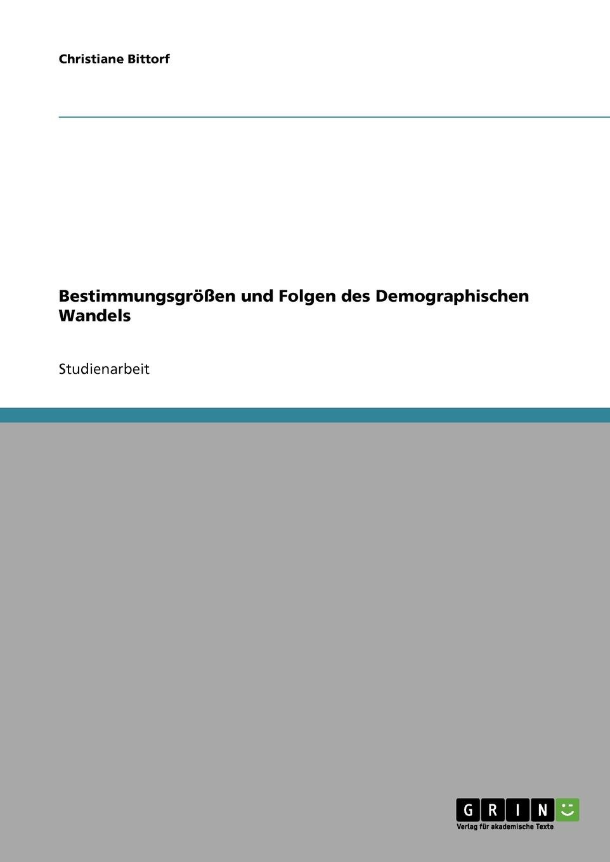 Christiane Bittorf Bestimmungsgrossen und Folgen des Demographischen Wandels sozialer und demographischer wandel in den neuen bundeslandern