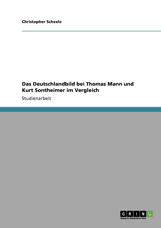 Christopher Scheele Das Deutschlandbild bei Thomas Mann und Kurt Sontheimer im Vergleich thomas daniel die aufarbeitung von diktatur und burgerkrieg in der gesellschaft und politik spaniens