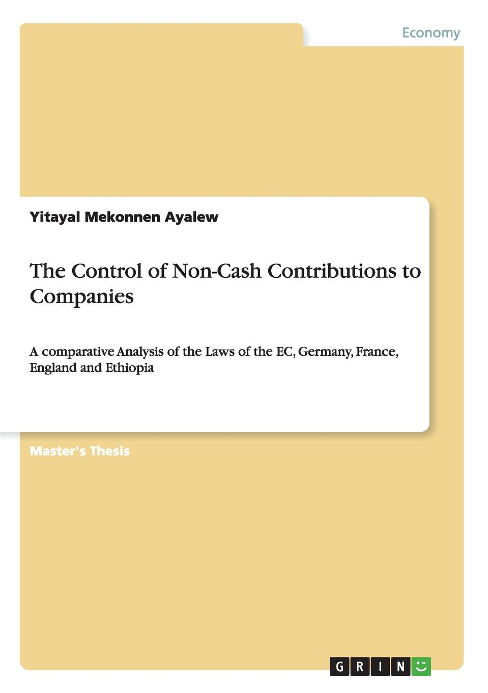 Yitayal Mekonnen Ayalew The Control of Non-Cash Contributions to Companies cherniavsky a g law as the basis of interaction of state and society round table discussion number 4