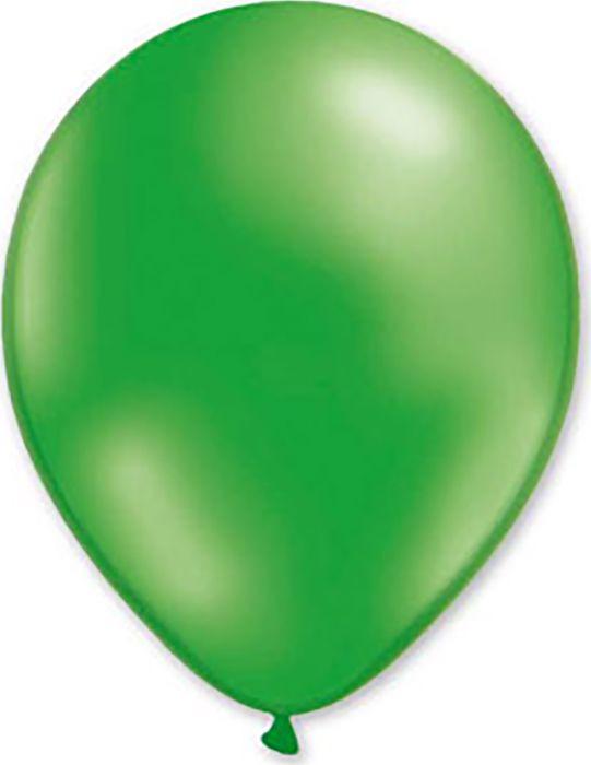 Воздушный шарик Miland, металлик зеленый, 100 шт, 31 см