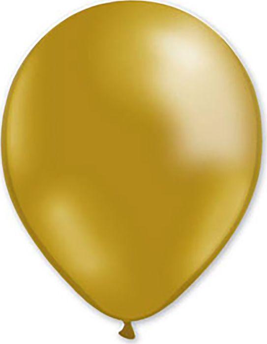 Воздушный шарик Miland, металлик золотой, 100 шт, 31 см шарик воздушный декоратор transparent 057 100 шт