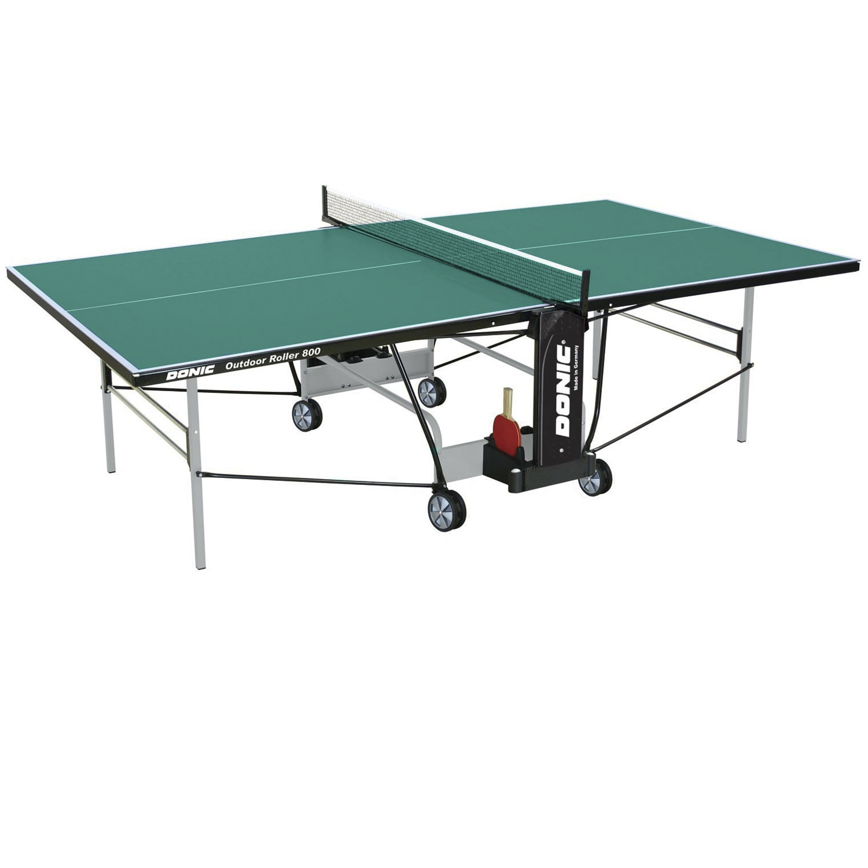 Теннисный стол Donic-Schildkrot Donic Outdoor Roller 800 зеленый, зеленый теннисный стол dfc tornado 4 мм с сеткой
