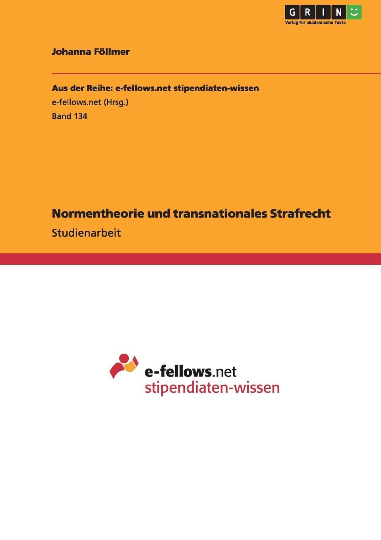 Normentheorie und transnationales Strafrecht