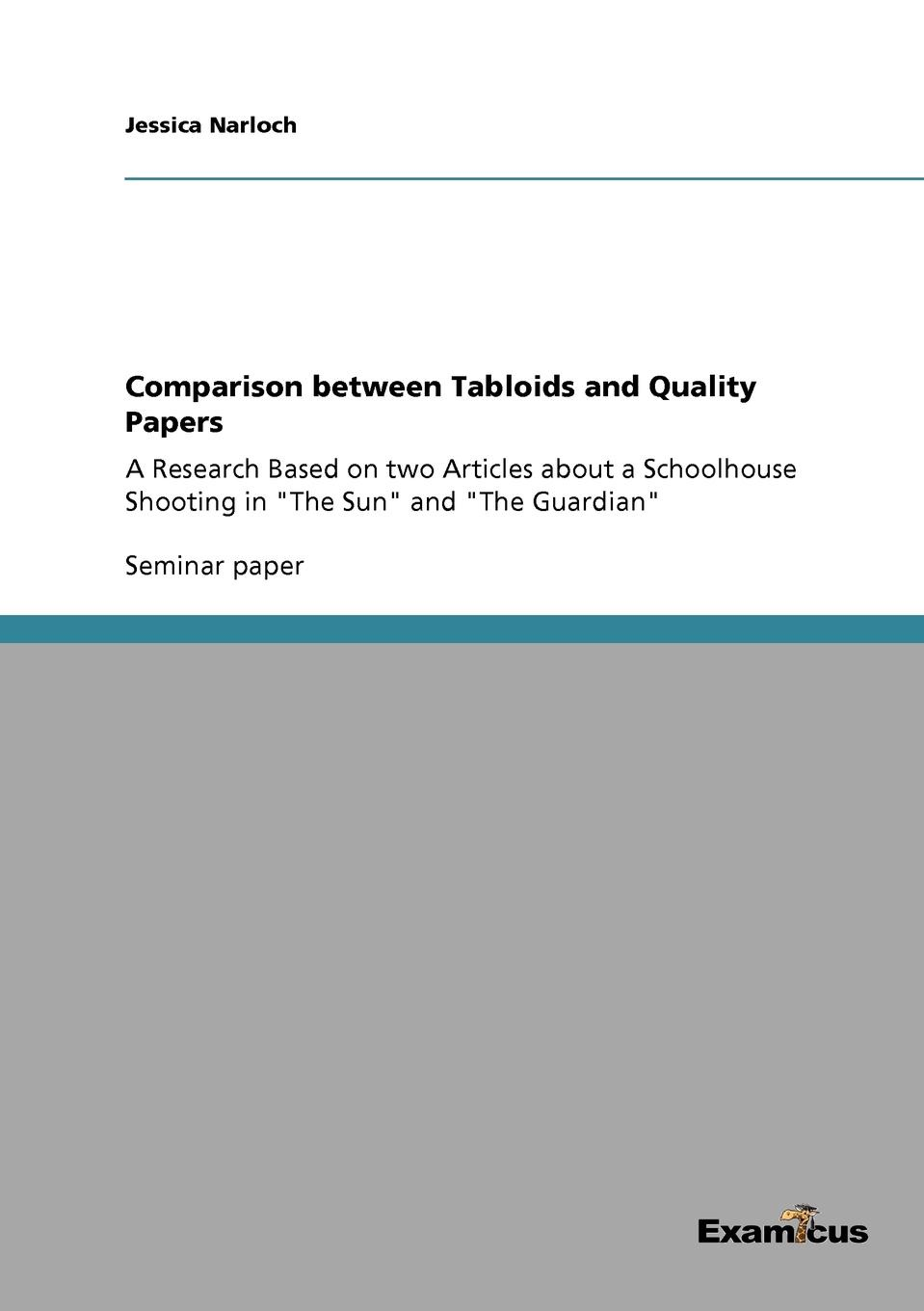 Jessica Narloch Comparison between Tabloids and Quality Papers benedicte de boysson–bard how language comes to children – from birth to two years
