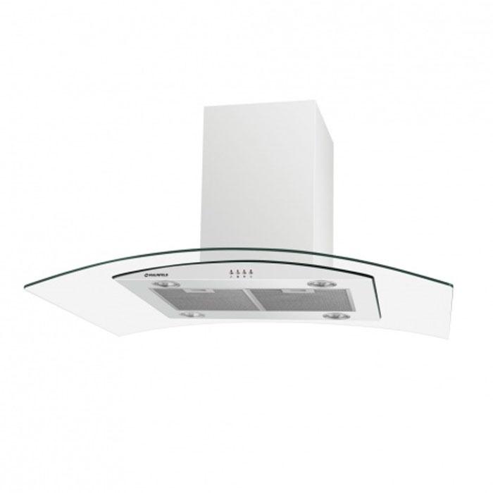 Вытяжка Maunfeld Ancona PlusA Isla 90 белый/прозрачное стекло, белый