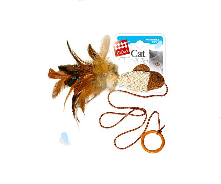 Игрушка для животных GiGwi Игрушка для кошек Дразнилка-рыбка на палец с кольцом видео для кошек рыбки