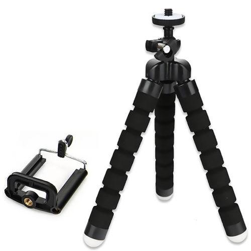 Штатив Универсальный с гибкими ножками для камеры и телефона (осьминог), черный использование телефона как веб камеры