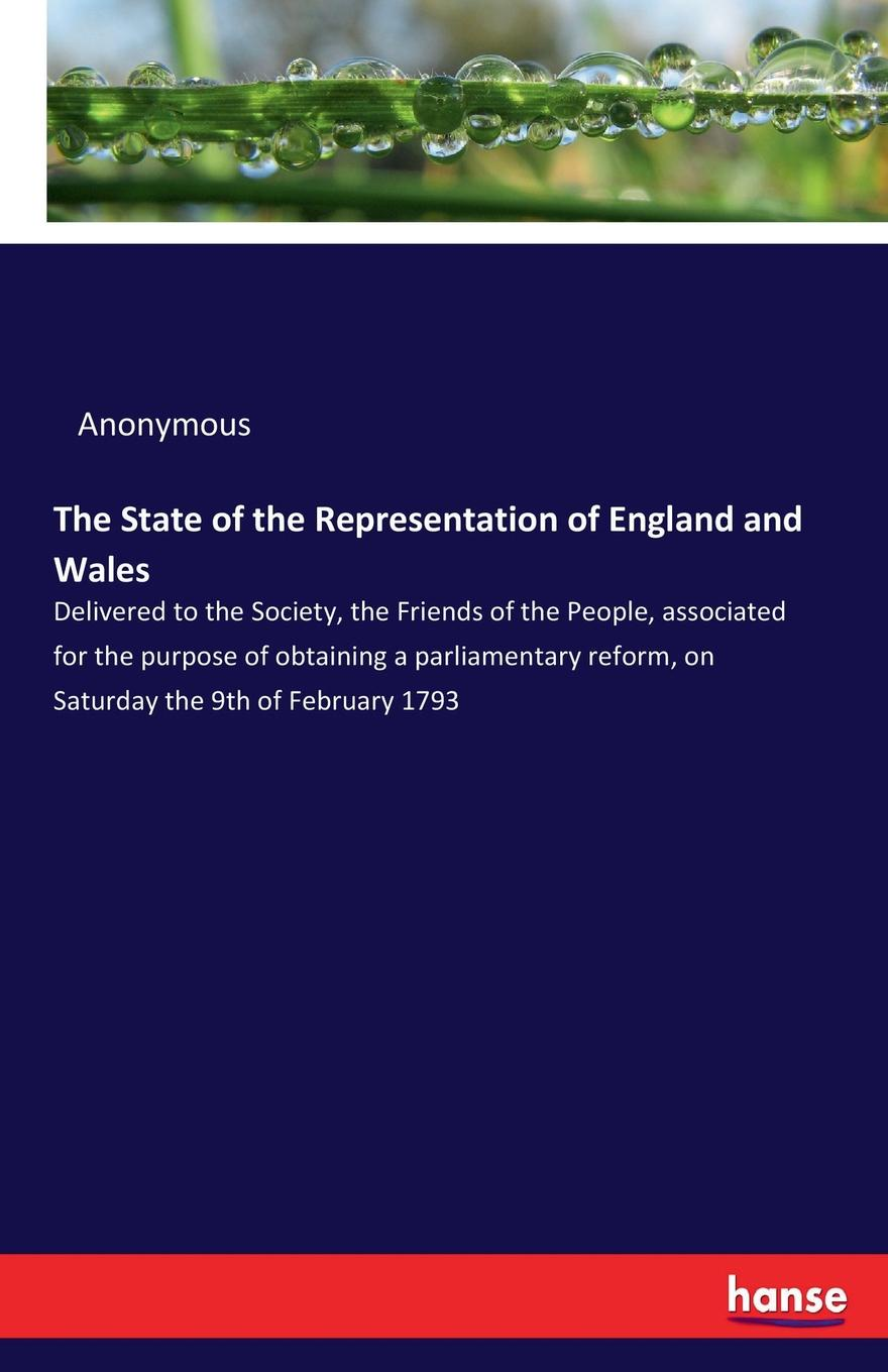 M. l'abbé Trochon The State of the Representation of England and Wales недорого