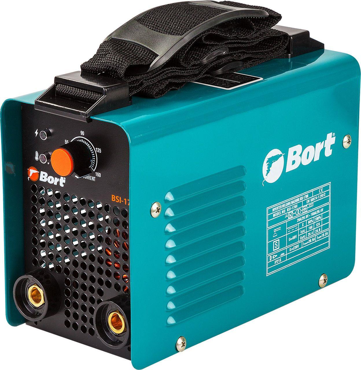 Аппарат сварочный инверторный Bort BSI-170H цена в Москве и Питере
