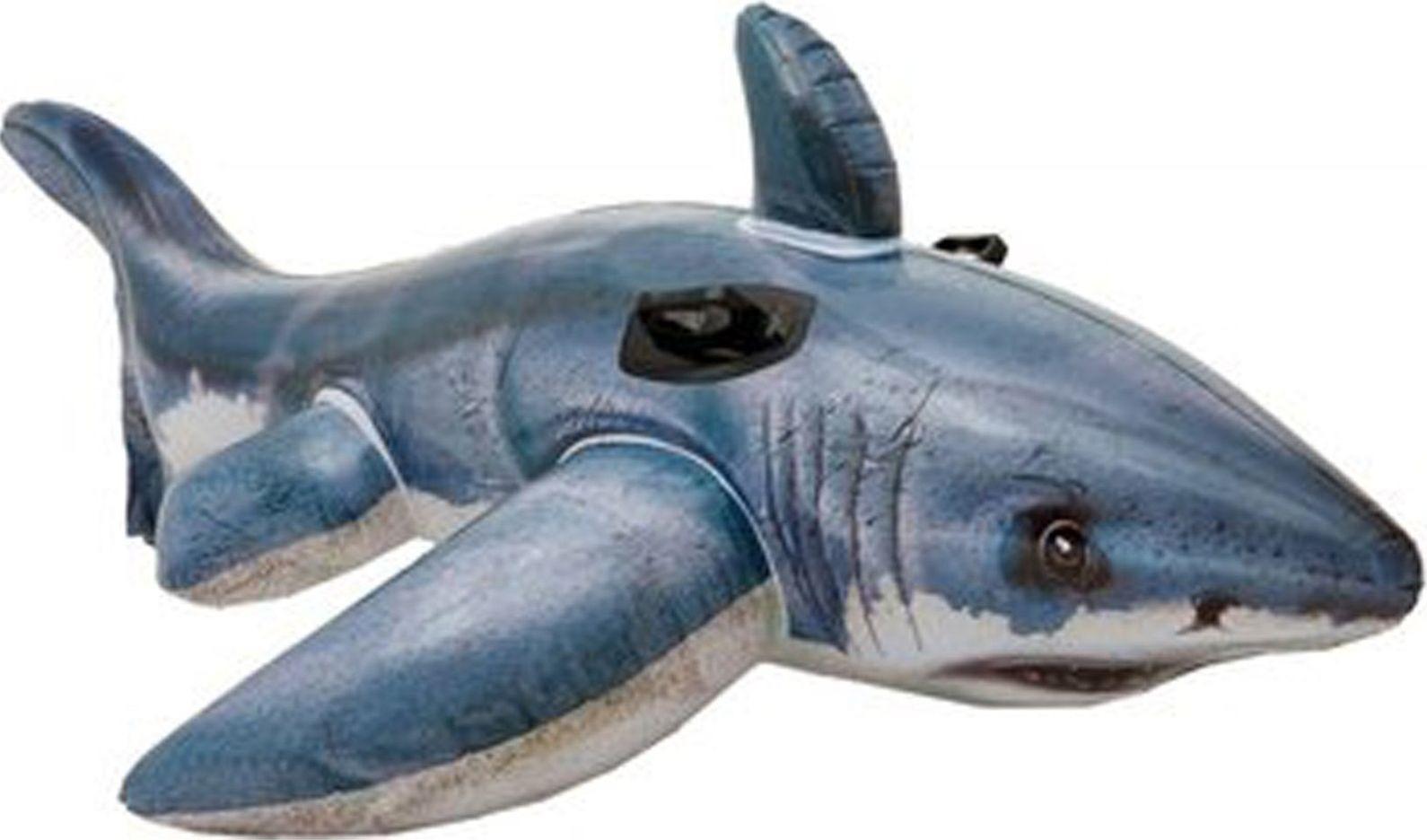 Надувная игрушка-наездник Intex Акула, 57525NP, от 6 лет, 173 х 107 см надувная игрушка наездник intex краб 213х137см 57528