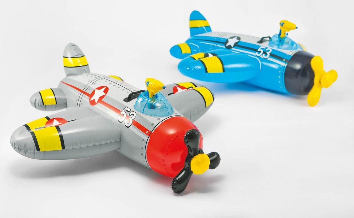Надувная игрушка-наездник Intex Самолеты, 57537NP, от 3 лет, 132 х 130 см надувная игрушка наездник intex краб 213х137см 57528