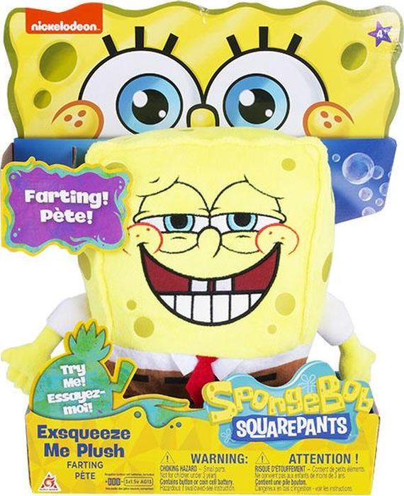 Мягкая игрушка SpongeBob Спанч Боб, со звуковыми эффектами, EU690902 мягкая игрушка spongebob спанч боб со звуковыми эффектами eu690903