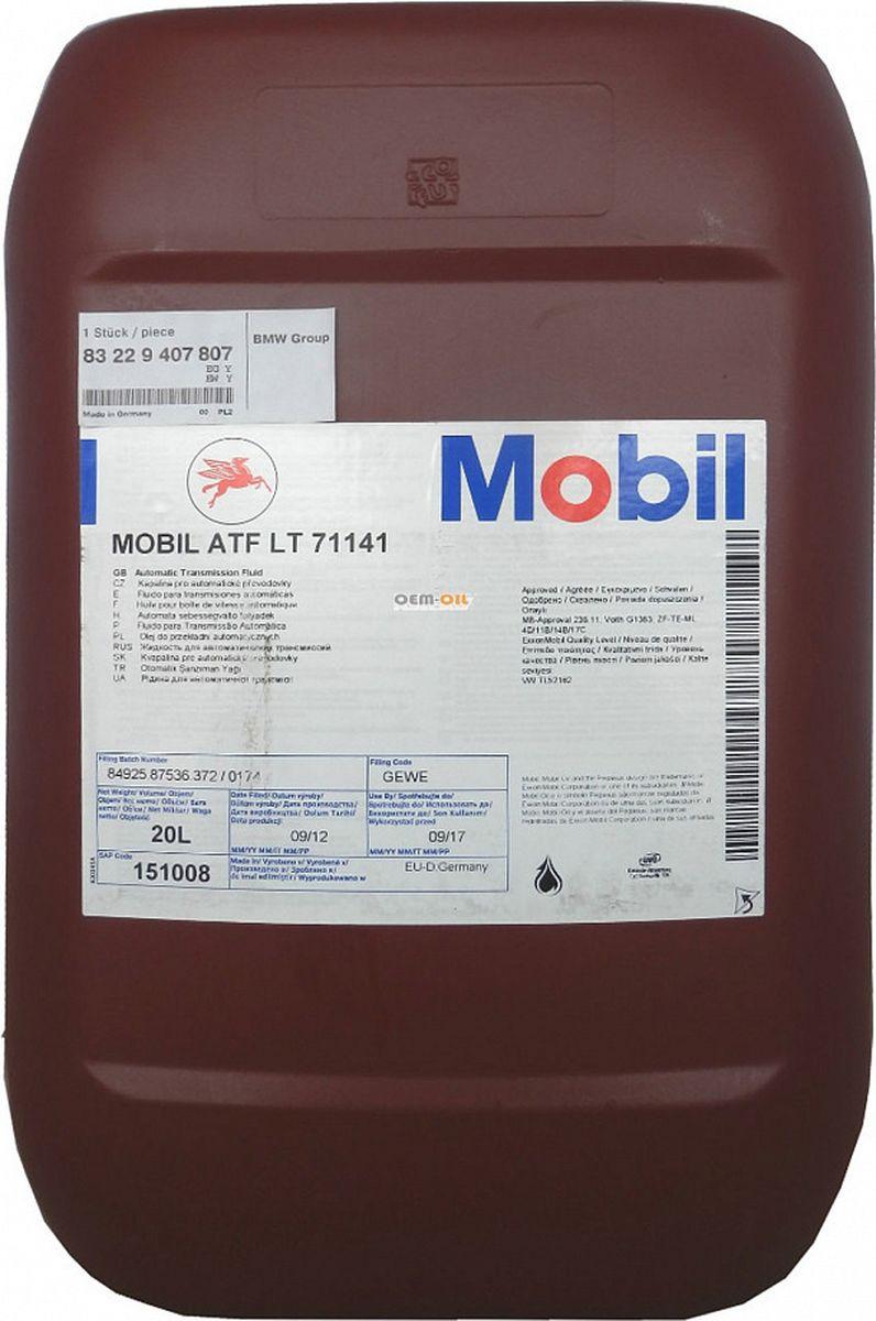 Трансмиссионное масло Mobil ATF LT 71141, 151008, 20 л