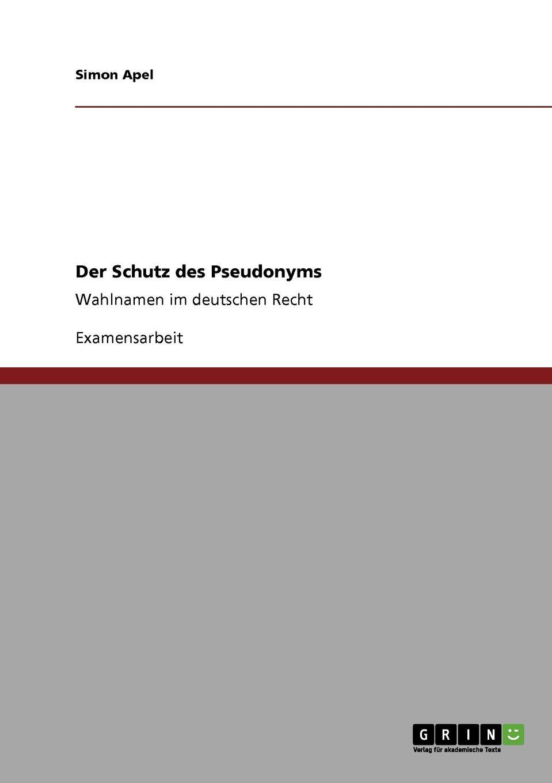 Simon Apel Der Schutz des Pseudonyms марат халикович ахметзянов сопротивление материалов 2 е изд пер и доп учебник для бакалавров
