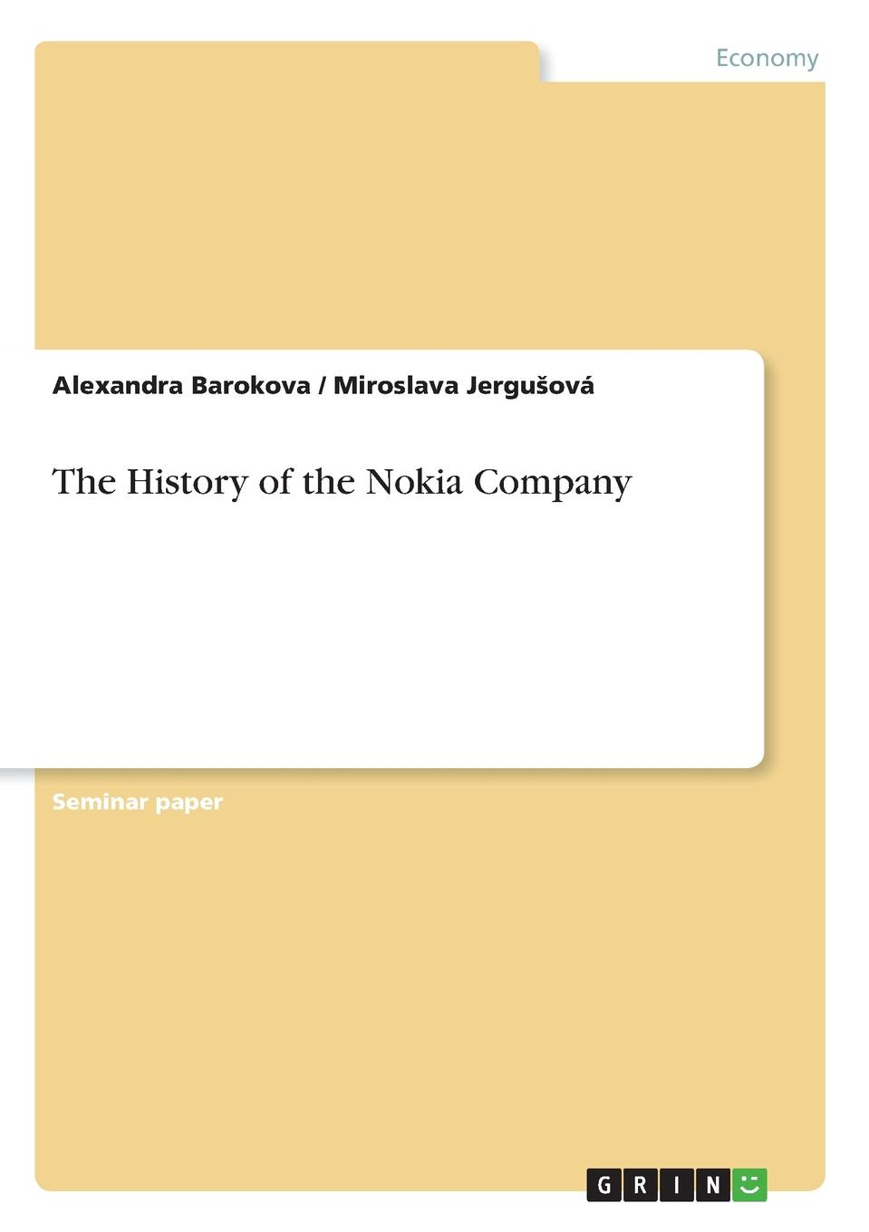 Alexandra Barokova, Miroslava Jergušová The History of the Nokia Company uv spot printing on single side of paper business cards the item is only for uv spot fee don t include the cost of paper