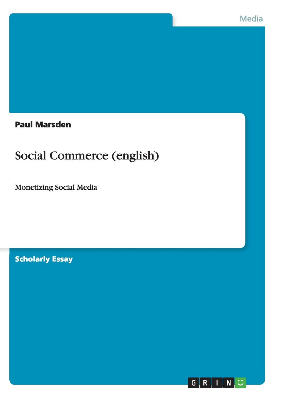 Paul Marsden Social Commerce (english) marsha collier social media commerce for dummies