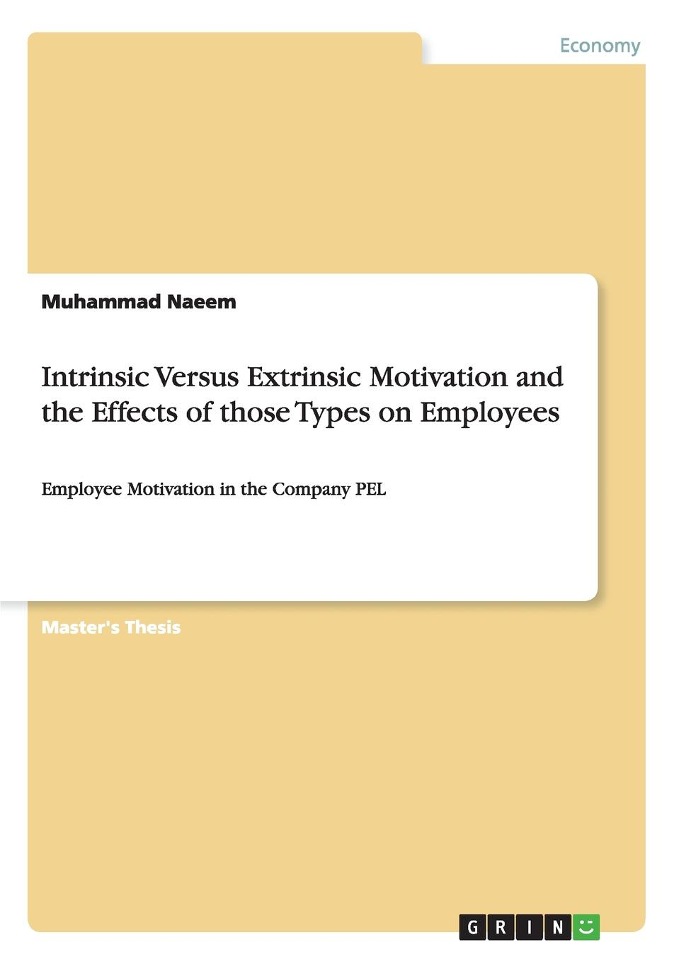 Muhammad Naeem Intrinsic Versus Extrinsic Motivation and the Effects of those Types on Employees kofan lee impacts of family styles and adventure program on intrinsic motivation