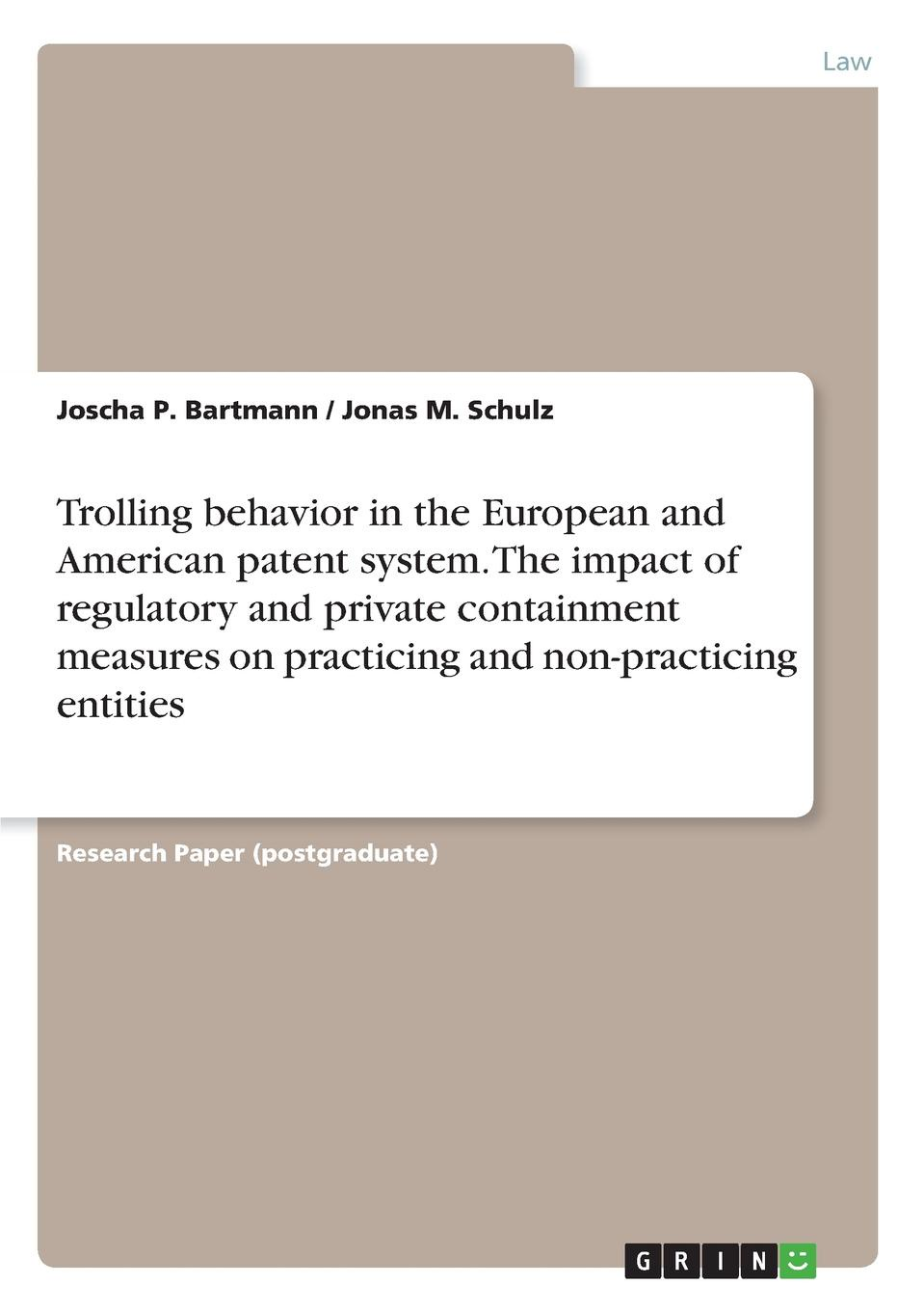 Joscha P. Bartmann, Jonas M. Schulz Trolling behavior in the European and American patent system. The impact of regulatory and private containment measures on practicing and non-practicing entities pocket patched zipper up faux patent skirt