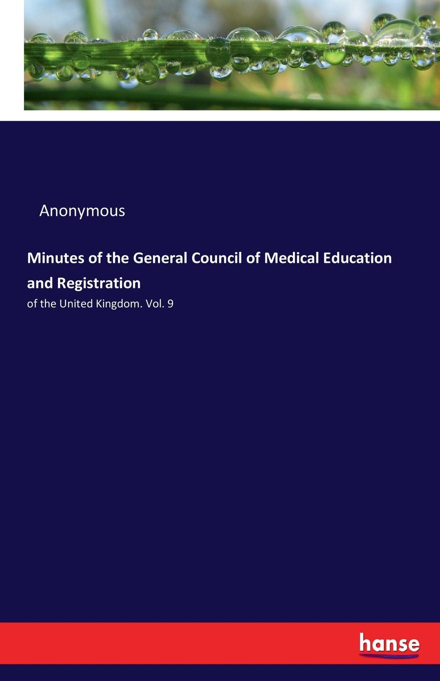 M. l'abbé Trochon Minutes of the General Council of Medical Education and Registration