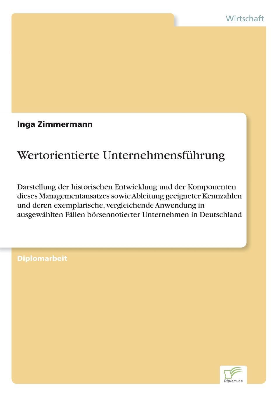 Inga Zimmermann Wertorientierte Unternehmensfuhrung недорого