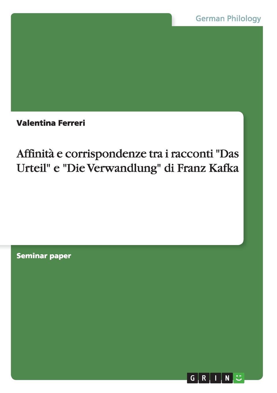 Valentina Ferreri Affinita e corrispondenze tra i racconti