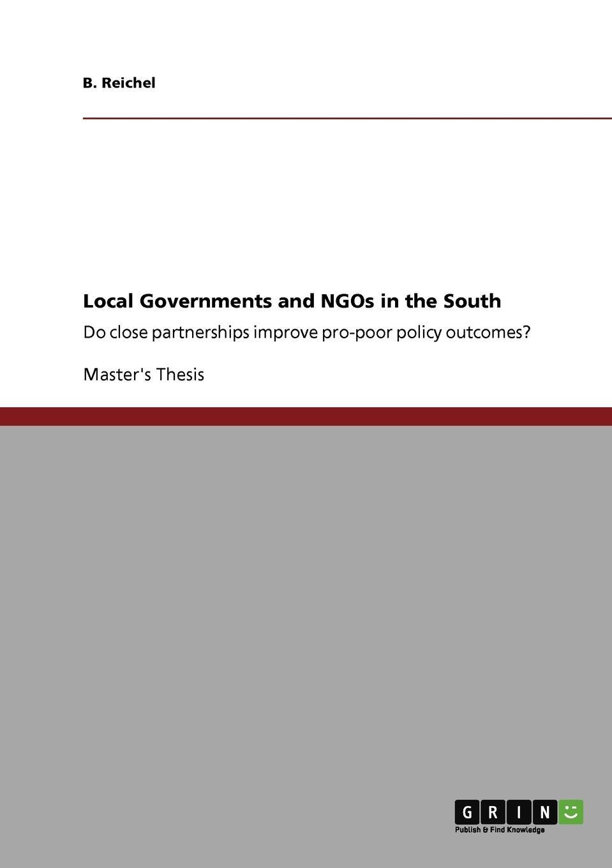 цены на B. Reichel Local Governments and NGOs in the South  в интернет-магазинах