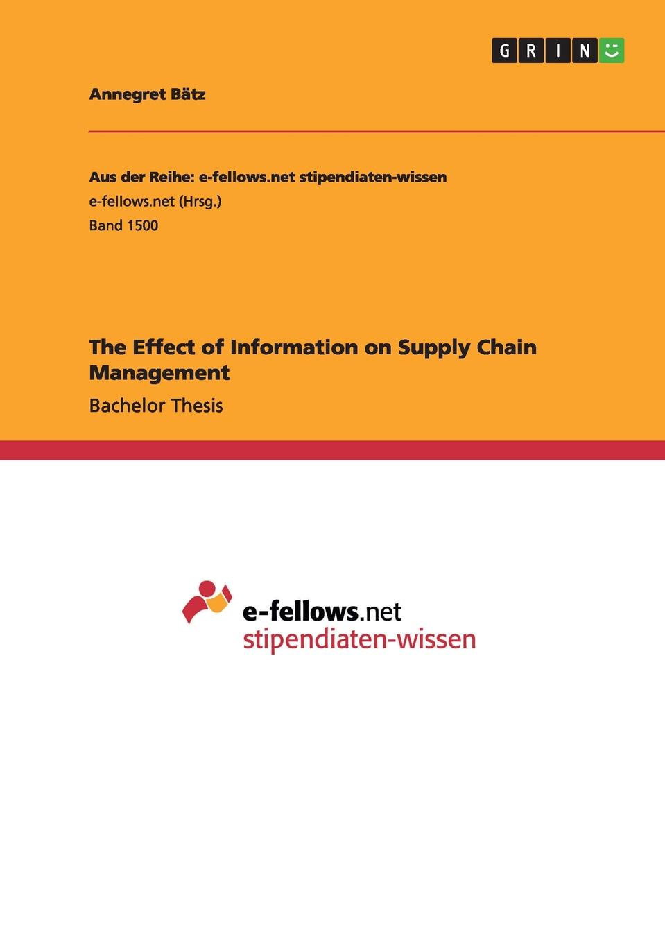 Annegret Bätz The Effect of Information on Supply Chain Management цена