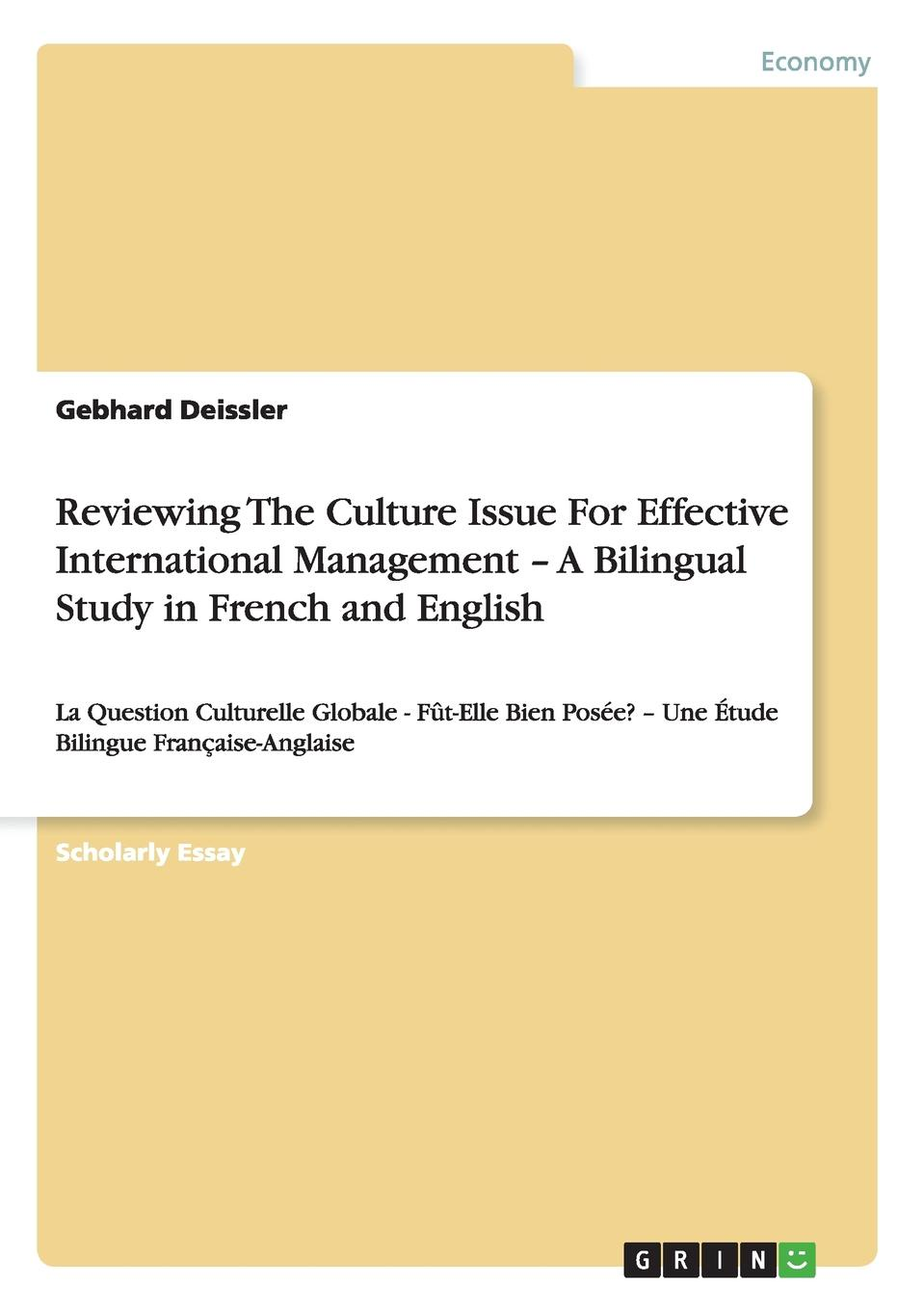 Gebhard Deissler Reviewing The Culture Issue For Effective International Management - A Bilingual Study in French and English this is common in english bluetooth oximeter nail type oxygen meter