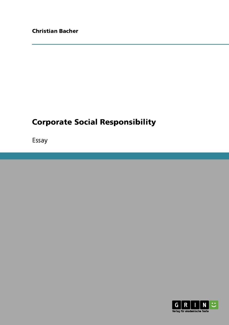 Christian Bacher Corporate Social Responsibility недорго, оригинальная цена