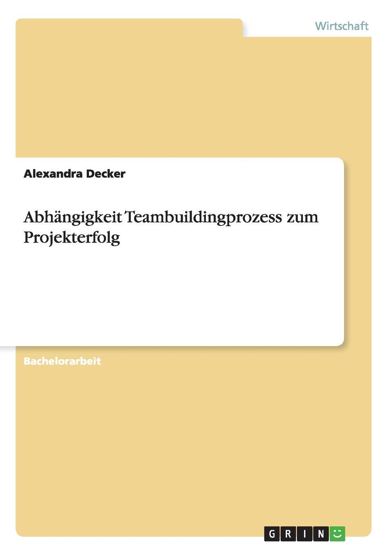 Abhangigkeit Teambuildingprozess zum Projekterfolg Bachelorarbeit aus dem Jahr 2009 im Fachbereich BWL...