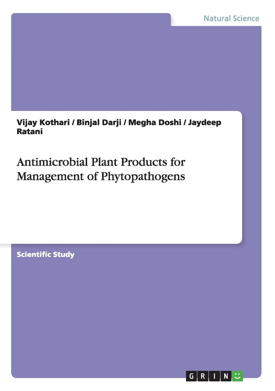 Vijay Kothari, Binjal Darji, Megha Doshi Antimicrobial Plant Products for Management of Phytopathogens production of polyclonal antibodies against scorpion venom