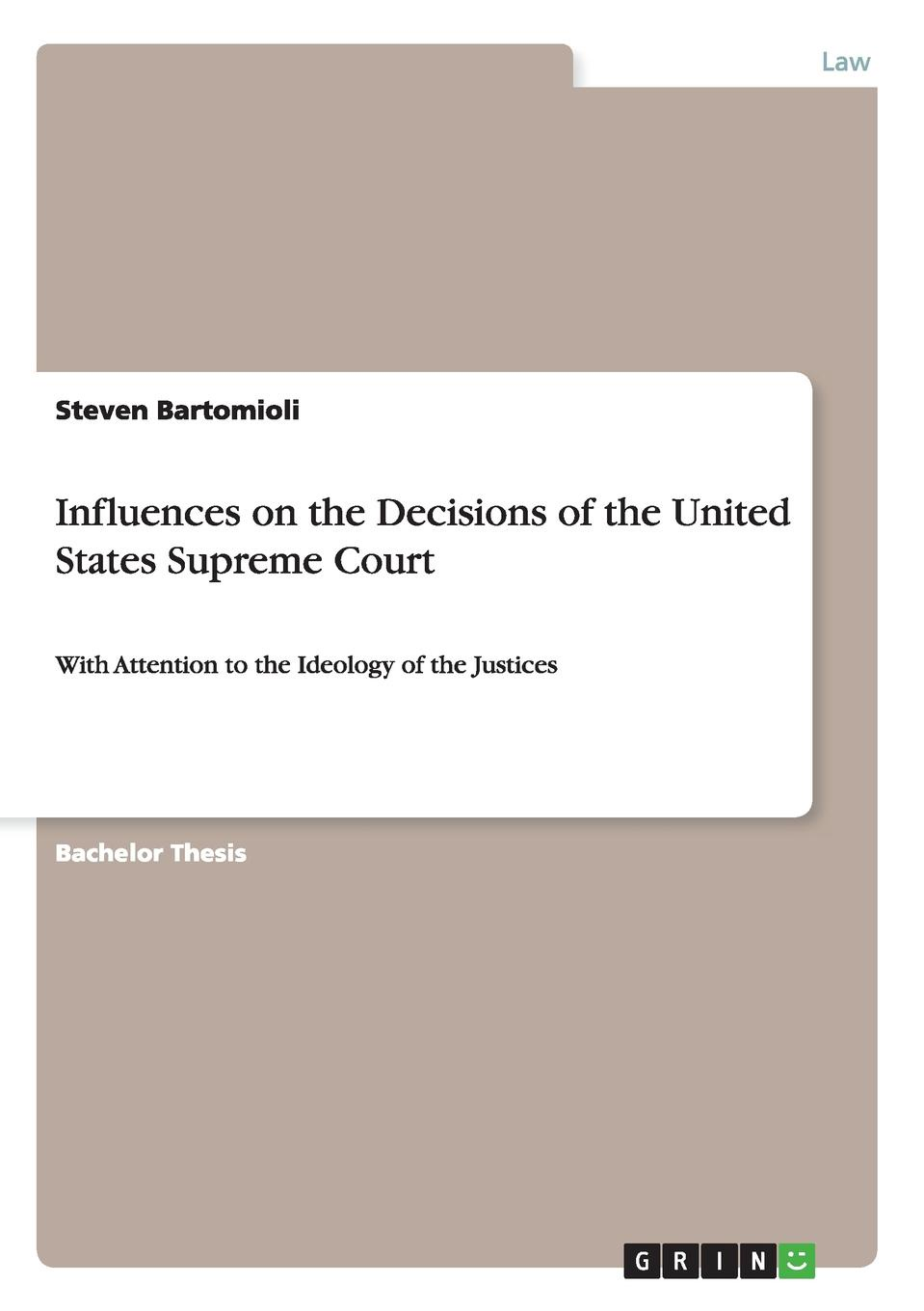Steven Bartomioli Influences on the Decisions of the United States Supreme Court henry flanders the lives and times of the chief justices of the supreme court of the united states volume 2