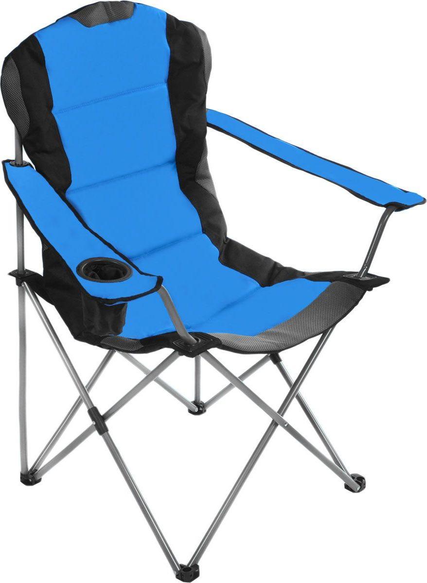 Кресло складное Green Glade, цвет: серый, синий, 60 х 66 х 50/95 см цена