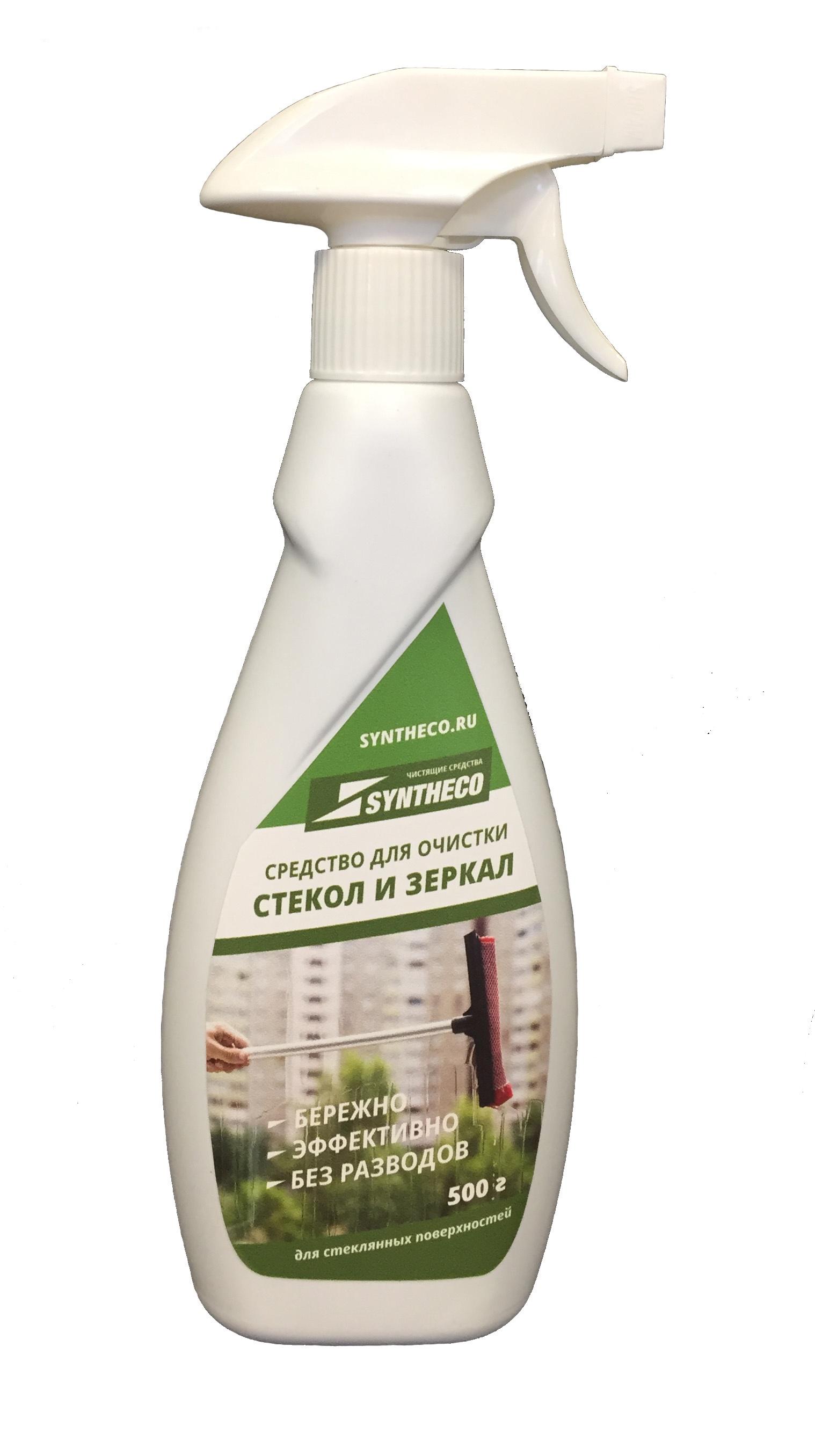 Средство для чистки стекла syntheco Средство для очистки стеклянных поверхностей, 0,5 бытовая химия ikeep средство для чистки стекол с триггером 750 мл