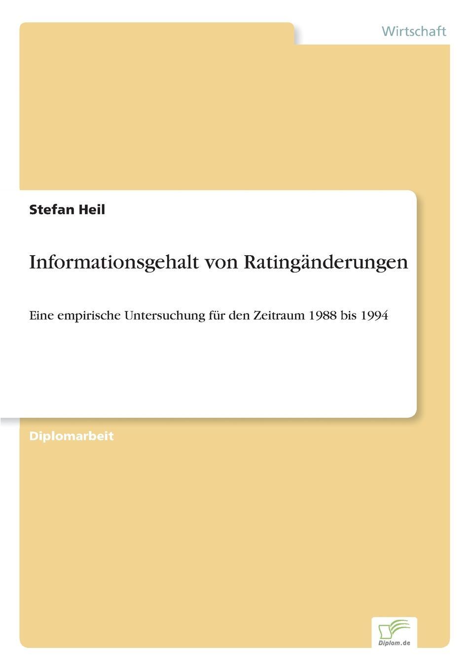 Informationsgehalt von Ratinganderungen