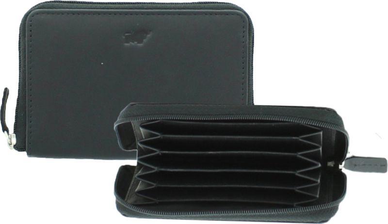 Футляр для кредитных карт Braun Buffel мужской Cardiff Card Case + Zip 9Cs, 89146, черный комплект термобелья мужской huntsman zip брюки кофта цвет черный h 100 zip 901 размер l 48 50