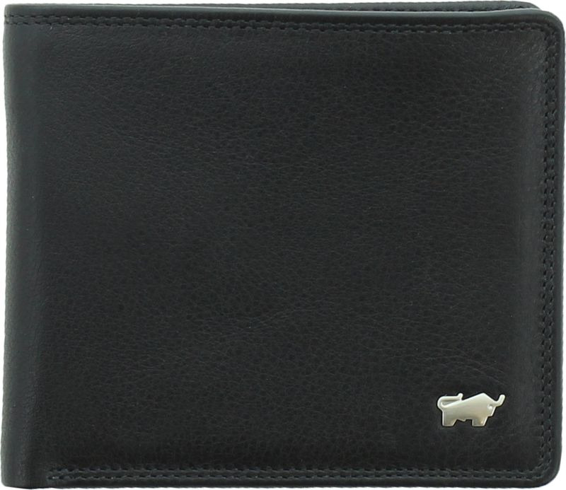 Кошелек мужской Braun Buffel Golf Secure Coin Wallet 4+3Cs, 90034, черный genuine leather wallet men purse bag designer wallets famous brand men wallet 2016 fashion money clip dollar price coin pocket