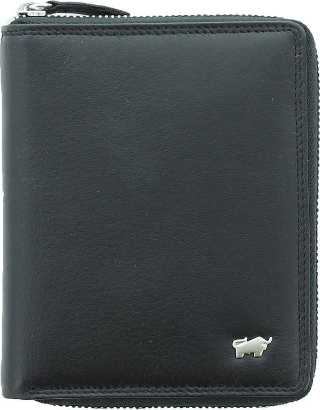 Кошелек мужской Braun Buffel Golf 2.0 Zip-Around North Wallet 8Cs, 90452, черный комплект термобелья мужской huntsman zip брюки кофта цвет черный h 100 zip 901 размер l 48 50